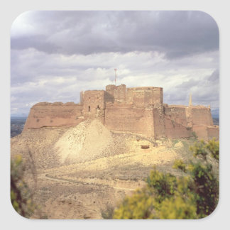 Monzon Castle, where King James spent his infancy, Square Sticker
