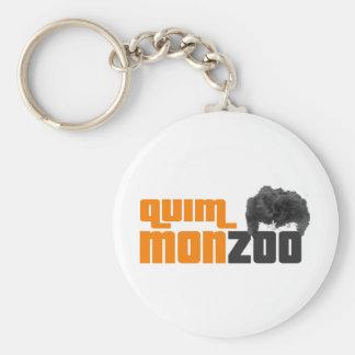 Monzoo Basic Round Button Keychain