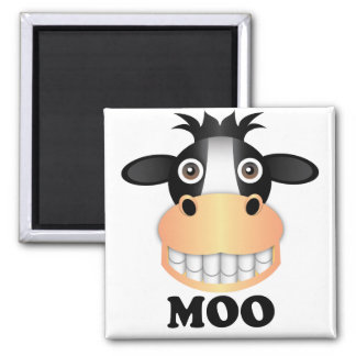 Moo - 2 Inch Square Magnet Magnet