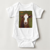 moo  A Cute Design For Stylish Babies Baby Bodysuit