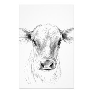 Moo A Young Jersey Cow Stationery