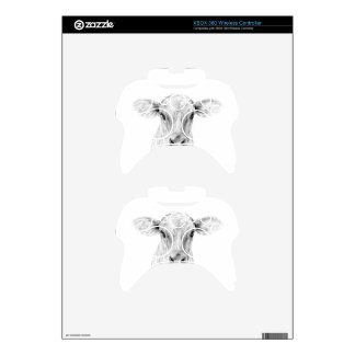 Moo A Young Jersey Cow Xbox 360 Controller Decal