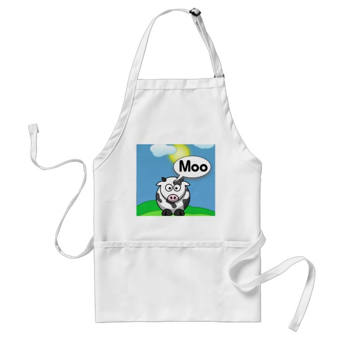Moo Adult Apron