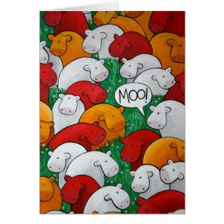 'Moo!' Art Card