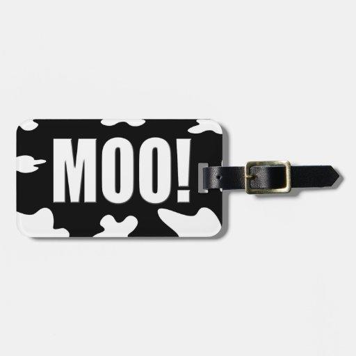 Moo! Bag Tag