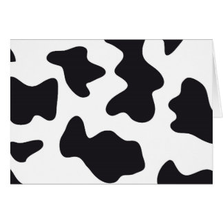 MOO Black and White Dairy Cow Pattern Print Gifts Card