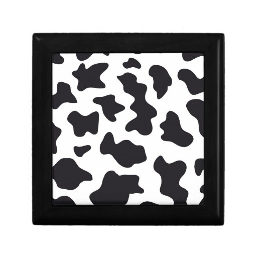 MOO Black and White Dairy Cow Pattern Print Gifts Gift Box