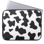 MOO Black and White Dairy Cow Pattern Print Gifts Laptop Sleeves