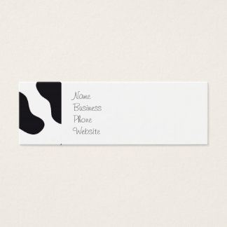 MOO Black and White Dairy Cow Pattern Print Gifts Mini Business Card