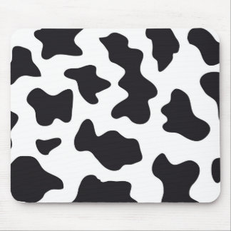 MOO Black and White Dairy Cow Pattern Print Gifts Mouse Pad