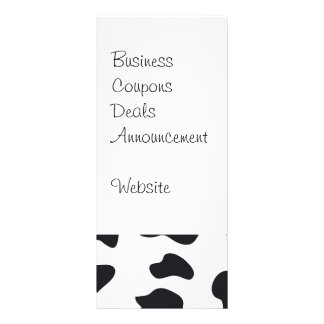 MOO Black and White Dairy Cow Pattern Print Gifts Rack Card