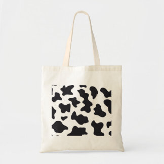 MOO Black and White Dairy Cow Pattern Print Gifts Tote Bag