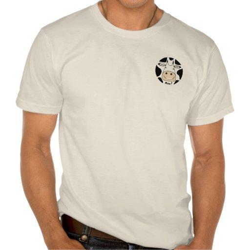 ¡MOO! Camiseta del hombre Playeras