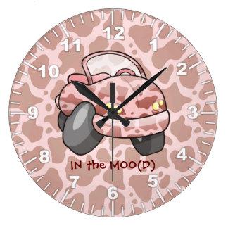 Moo Car Large Clock