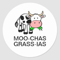 Moo-chas Grass-ias (Muchas Gracias) Sticker