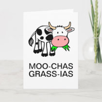 Moo-chas Grass-ias (Thank You Very Much) Card