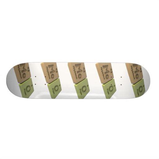MOO como oxígeno del molibdeno y de O del MES Skate Boards