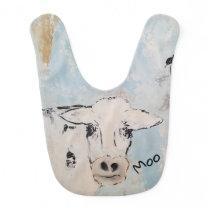Moo Cow Baby Bib