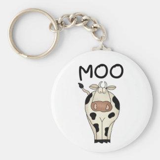 Moo Cow Basic Round Button Keychain