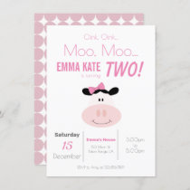Moo Cow Birthday Invitations