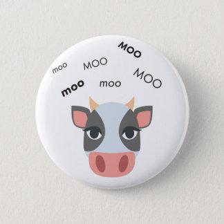 Moo Cow Cute Emoji Pinback Button