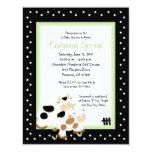 Moo Cow Farm Barnyard Baby Shower 4.25 x 5.5 Personalized Invites