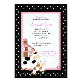 Moo Cow Farm Barnyard Baby Shower Invitations 5x7