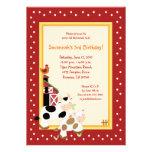Moo Cow Farm Barnyard Country Birthday Invitations