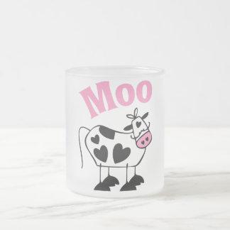 Moo Cow Frosted Glass Coffee Mug