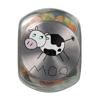 Moo Cow Glass Candy Jar