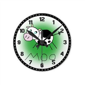 Moo Cow Round Clock