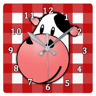 Moo Cow Square Wall Clock