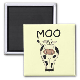 Moo Cow Tshirts and Gifts 2 Inch Square Magnet