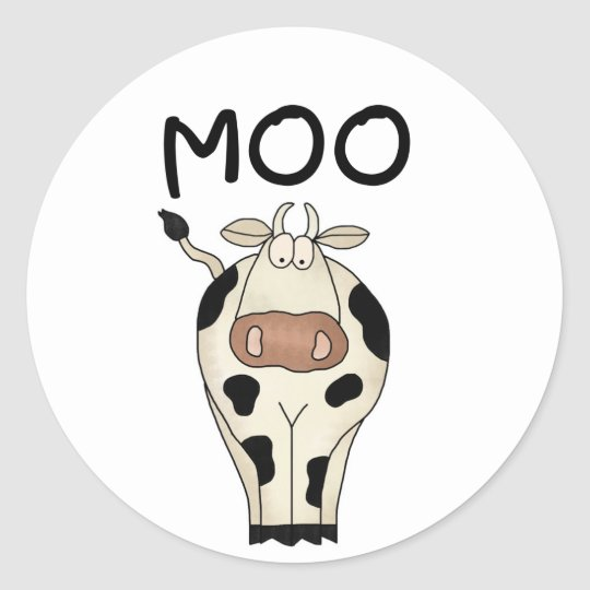 Moo Cow Tshirts and Gifts Classic Round Sticker
