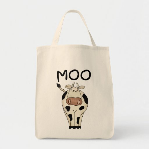 Moo Cow Tshirts and Gifts Grocery Tote Bag