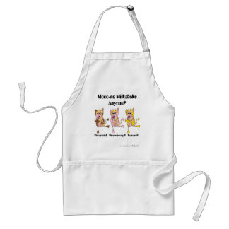 moo cows; Mooo-re Milkshake Anyone? Adult Apron