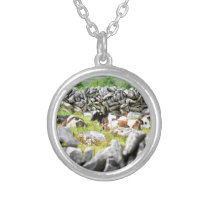 Moo Cows Silver Plated Necklace