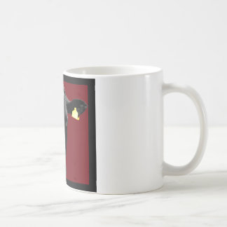 MOO de color rojo oscuro Taza Clásica