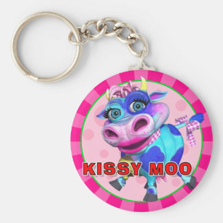 MOO de GiggleBellies Kissy el llavero de la vaca