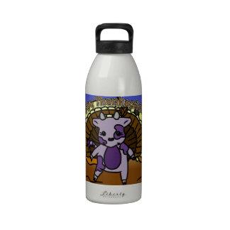 MOO de la acción de gracias Botella De Agua Reutilizable