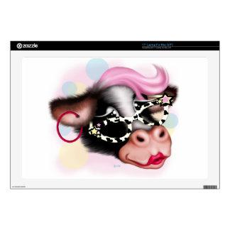 MOO FACE CARTOON Vinyl Device Protection Skin 17 Laptop Skin