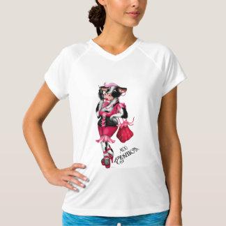 MOO FASHION Women's Champion Double-Dry V-Neck T-S T-Shirt