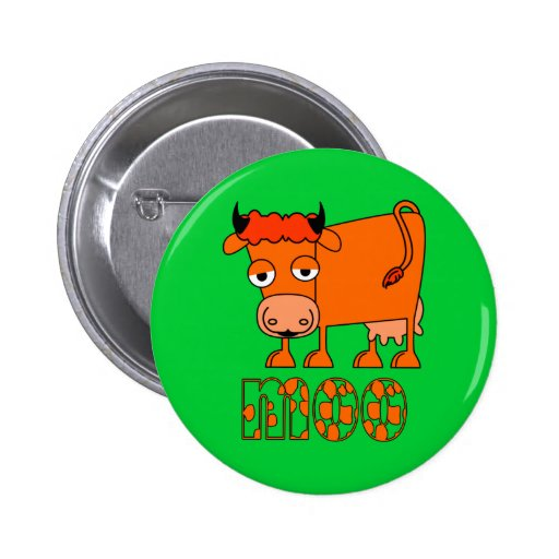 Moo - Ginger Cow 2 Inch Round Button