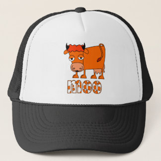 Moo - Ginger Cow Trucker Hat