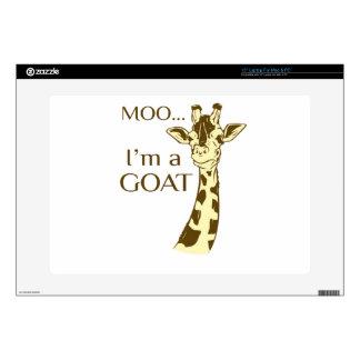 "moo im a goat 15"" laptop skins"