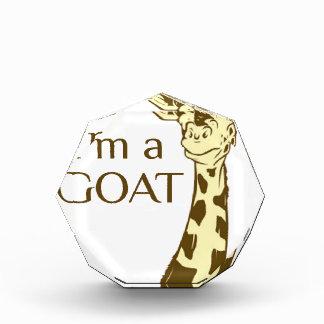 moo im a goat acrylic award