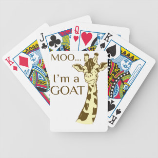 moo im a goat bicycle playing cards