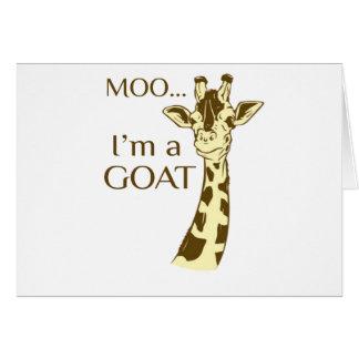 moo im a goat card