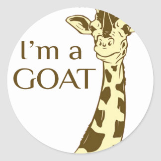 moo im a goat classic round sticker
