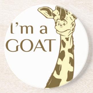 moo im a goat drink coaster